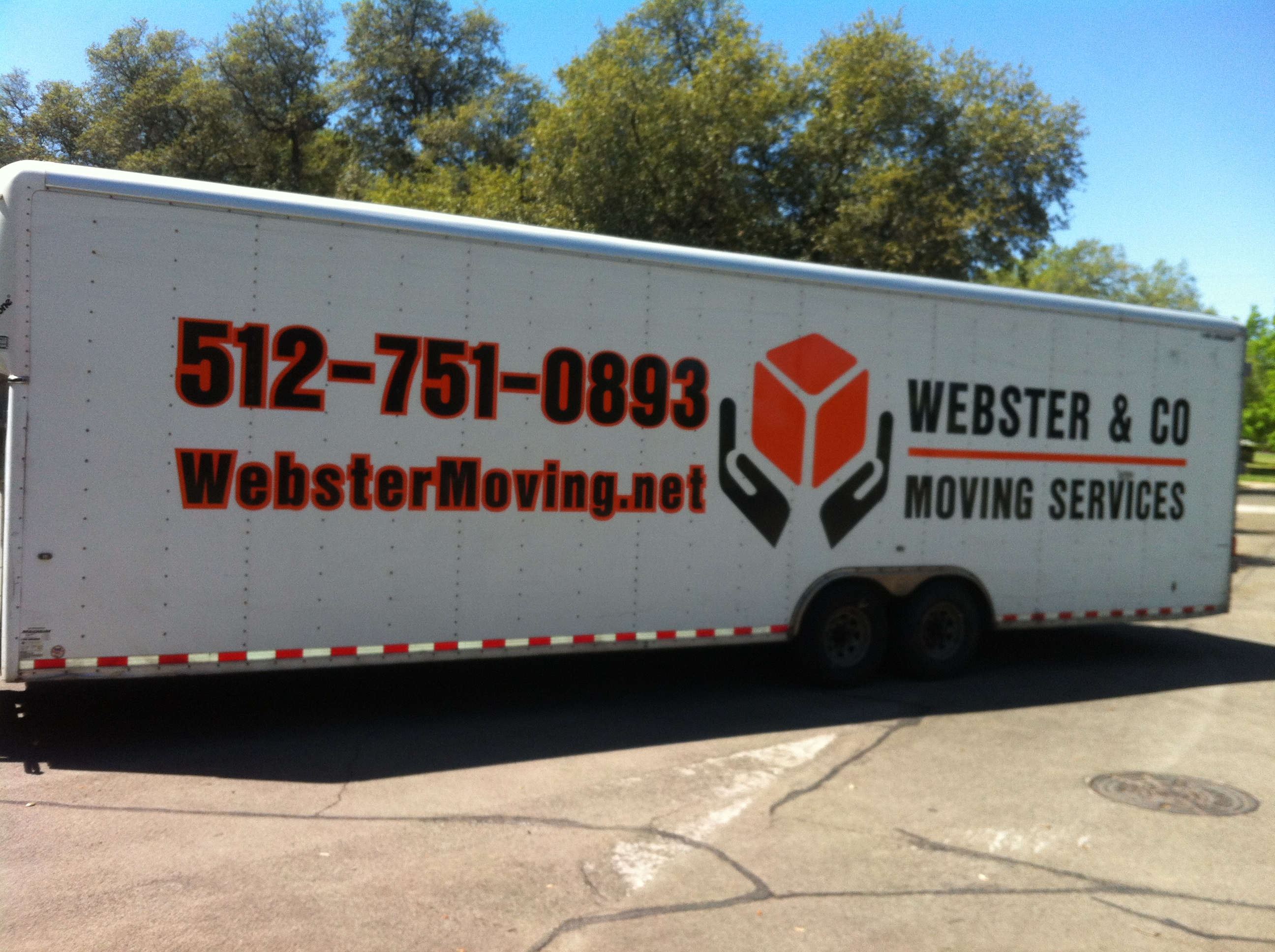 Webster moving trailer