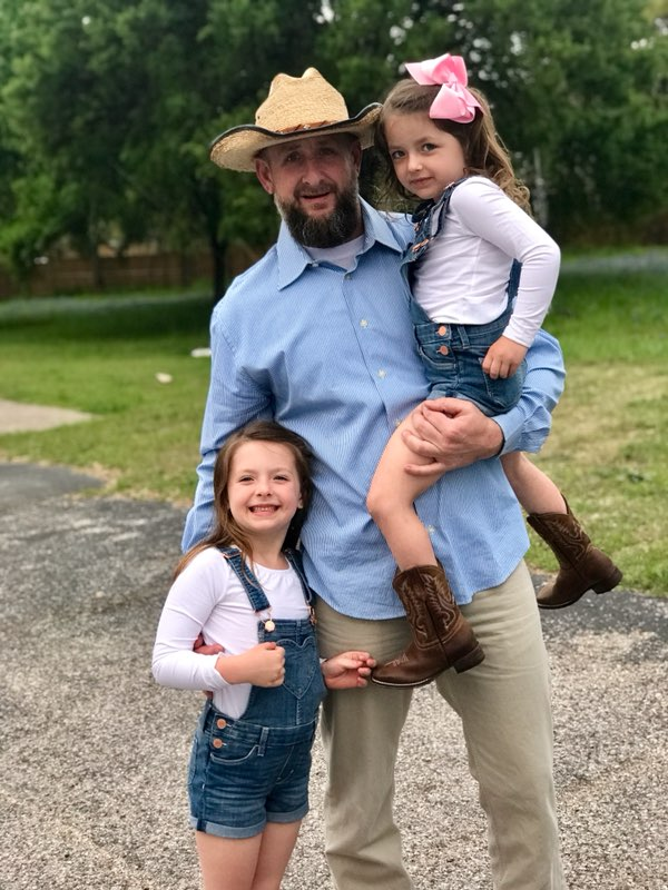 Michael Webster and two daughters